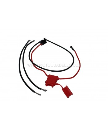 CABLE FASTON ET CONNECTEUR DE BATTERIE MINI QUAD ET TROTTINETTE