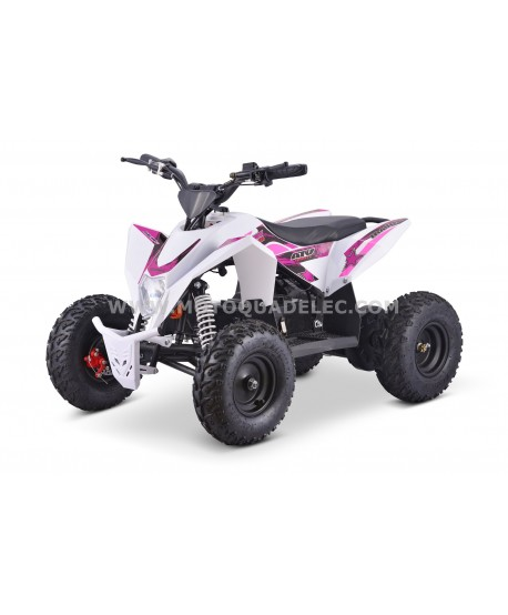 Quad 36V 1100W Adventurer Blanc-Rose