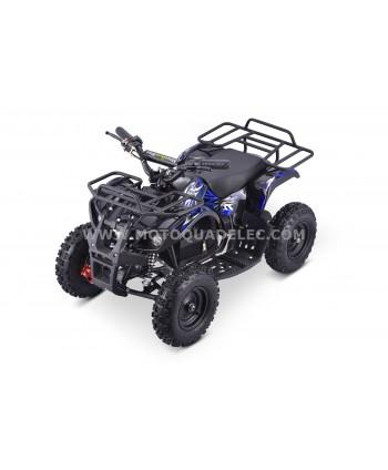 Mini Quad Enfant TOX 800W TRAPPER Bleu Prêt à Rouler