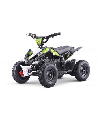 Mini Quad Enfant TOX 800W RUNNER Noir Vert Prêt à Rouler