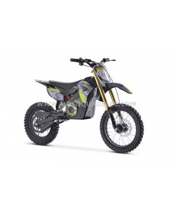 DIRT BIKE TOX 48V 1300W JAUNE ULTIMATE